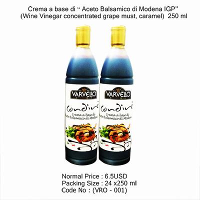 Crema a base di Aceto Balsamico VRO - 001